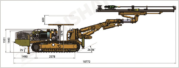 KJ310 Underground Mining Drill Rigs and Tunneling Jumbo