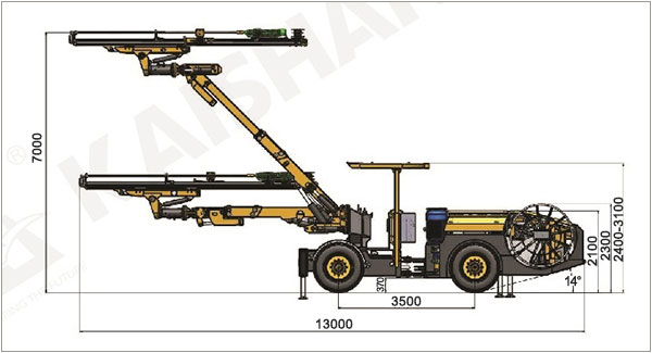KJ311 Underground Mining Drill Rigs and Tunneling Jumbo